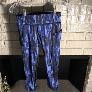 Lululemon blue print and mesh leggings